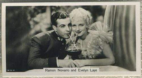 Ramon Novarro + Evelyn Laye 1937 John Sinclair Film Stars Tobacco Card #69