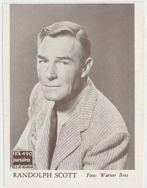 Randolph Scott 1940 Bridgewater Film Stars Small Trading Card - Series 8 #26