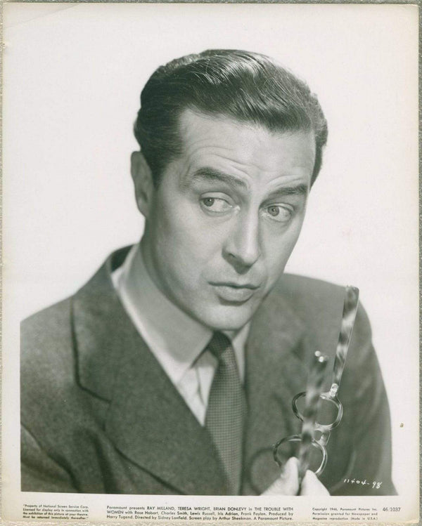 Ray Milland 1946 Vintage Portrait 8x10 STILL PHOTO for The Trouble with Women