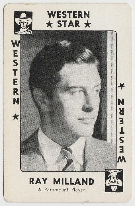 Ray Milland 1940s Vintage WW2 Era Paper Stock Trading Card or Picture