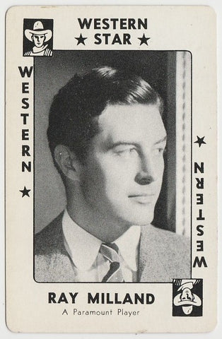 Ray Milland 1938 Transogram Movie Millions Game Card - Film Star