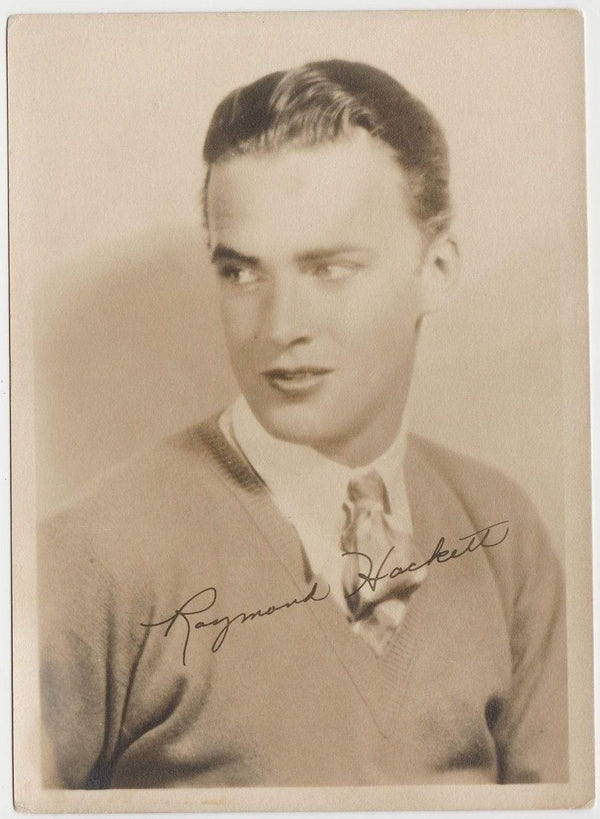Raymond Hackett Vintage 1920s Era 5x7 Movie Star Fan Photo