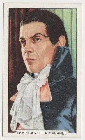 Raymond Massey 1935 Gallaher Famous Film Scenes Tobacco Card SCARLET PIMPERNEL