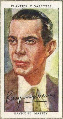 Raymond Massey 1938 John Player Film Stars Tobacco Card 3rd Series #29