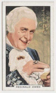 Reginald Owen 1935 Gallaher Portraits of Famous Stars Tobacco Card #4 Film Star