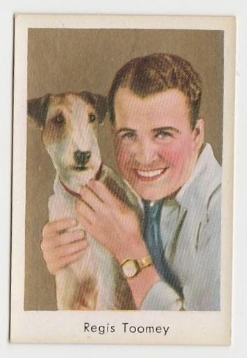 Regis Toomey 1934 Salem Goldfilm Movie Star Tobacco Card #290