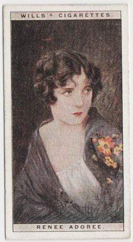 Renee Adoree 1928 Wills Cinema Stars Tobacco Card Series 1 #1