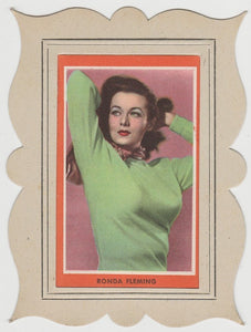 Rhonda Fleming 1940s Paper Stock Trading Card - Film Frame Design