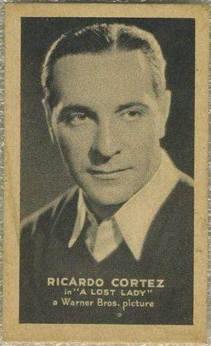 Ricardo Cortez 1934 Golden Grain T84 American Tobacco Card - Film Star