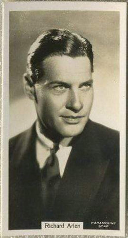 Richard Arlen 1934 John Sinclair Film Stars Tobacco Card #14