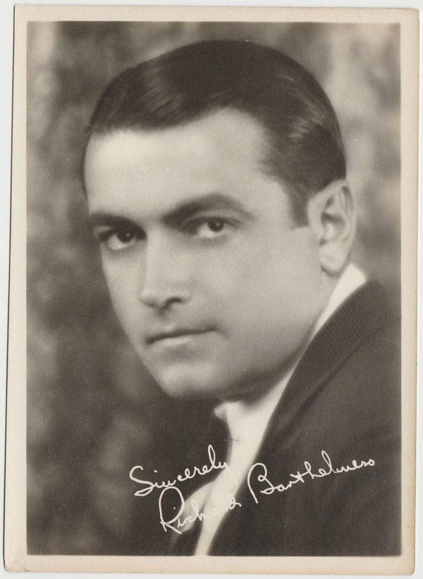 Richard Barthelmess Vintage 1920s Era 5x7 Movie Star Fan Photo (pose 3)