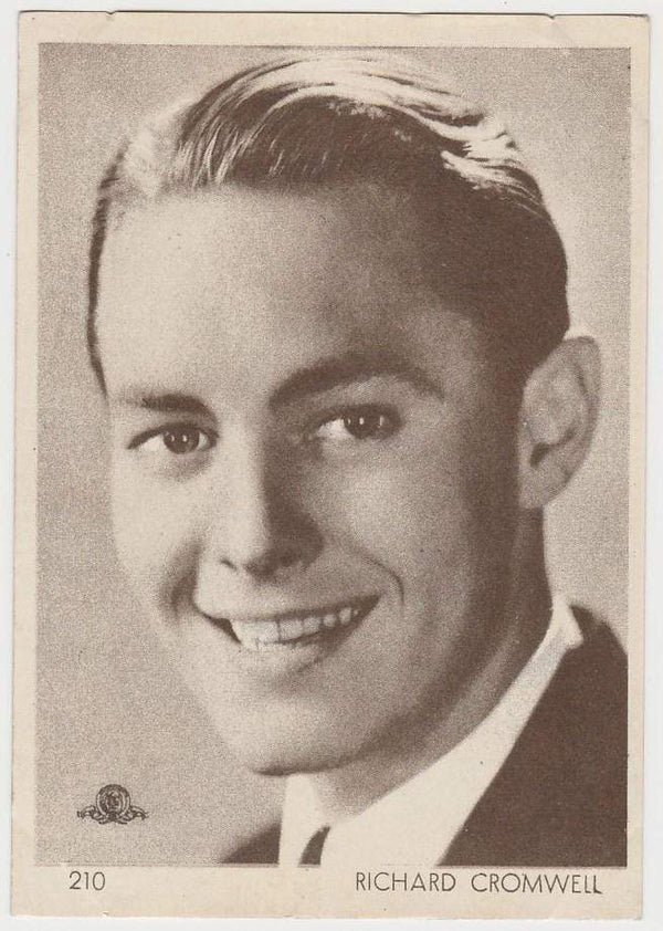 Richard Cromwell 1930s Aguila Large Paper Stock Trading Card #210