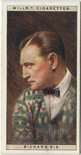 Richard Dix 1928 Wills Cinema Stars Tobacco Card Series 1 #11