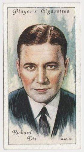 Richard Dix 1934 John Player Film Stars Tobacco Card 2nd Series #16