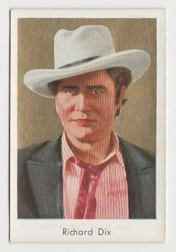 Richard Dix 1934 Salem Goldfilm Movie Star Tobacco Card #391