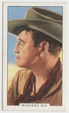 Richard Dix 1935 Gallaher Portraits of Famous Stars Tobacco Card #12