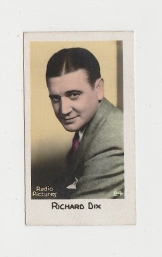Richard Dix 1930s Trading Card #24 - Anon Color Biscuit Card
