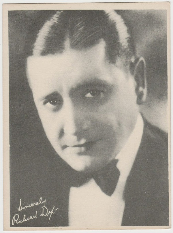 Richard Dix 1920s Kashin Motion Picture Stars Large Trading Card W618