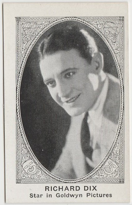 RICHARD DIX 1921 American Caramel TRADING CARD No# Blank Back