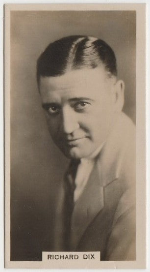 Richard Dix 1929 Carreras Paramount Stars Tobacco Card #27