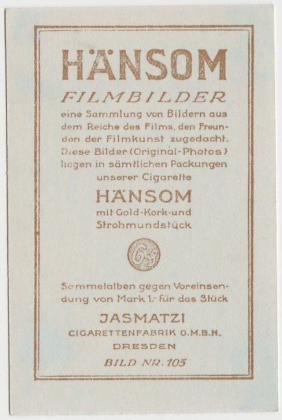 Richard Dix 1930s Jasmatzi Hansom German Trading Card #105