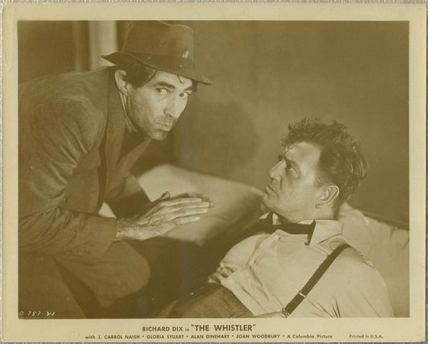 Richard Dix + Trevor Bardette 1944 8x10 STILL PHOTO The Whistler D-787-21