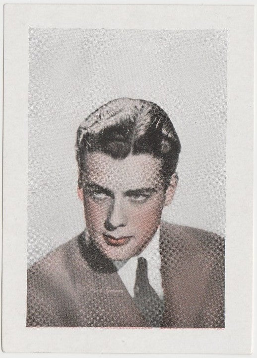 Richard Greene 1940s Vintage WW2 Era Paper Stock Trading Card or Picture