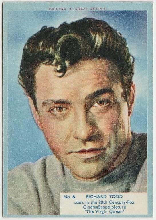 Richard Todd 1956 A&BC Film Stars Trading Card #8