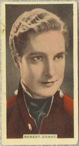 Robert Donat 1935 Godfrey Phillips Stage and Cinema Beauties Tobacco Card #1