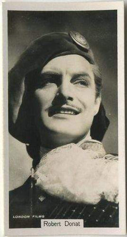 Robert Donat 1937 John Sinclair Film Stars Tobacco Card #99