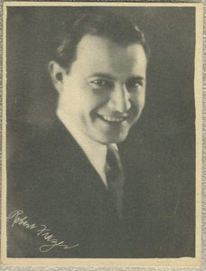 Robert Frazer 1920s Kashin Motion Picture Stars Large Trading Card W618
