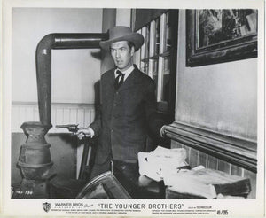 Robert Hutton in Western on 1949 8x10 Still Photo THE YOUNGER BROTHERS 704-334