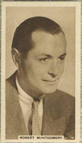 Robert Montgomery 1933 United Kingdom Co Cinema Stars Tobacco Card #23