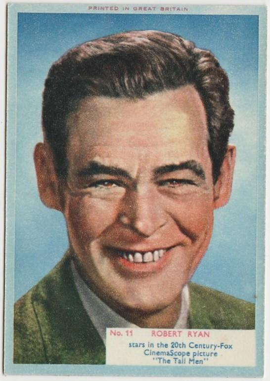 Robert Ryan 1956 A&BC Film Stars Trading Card #11