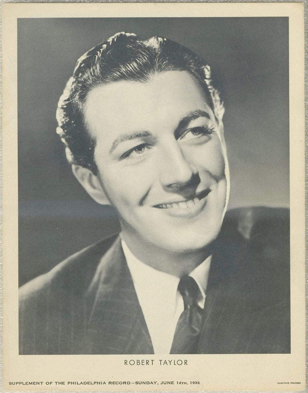 Robert Taylor 1936 Dated Philadelphia Record Newspaper Supplement Photo M23