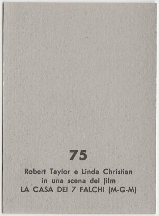 Robert Taylor + Linda Christian 1959 MGM Film Stars Trading Card from Italy #75