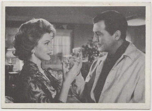 Robert Taylor + Linda Christian 1959 MGM Film Stars Trading Card from Italy #96