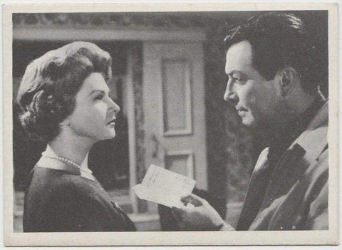 Robert Taylor + Nicole Maurey 1959 MGM Film Stars Trading Card from Italy #94