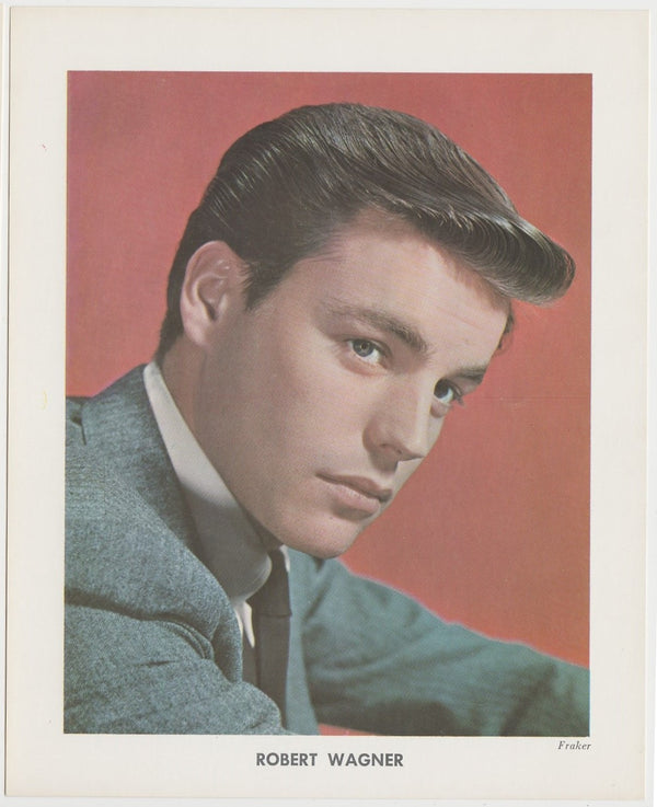 Robert Wagner 1950s Vintage Color Printed Photo on Paper by Fraker 5-5/8 x 7