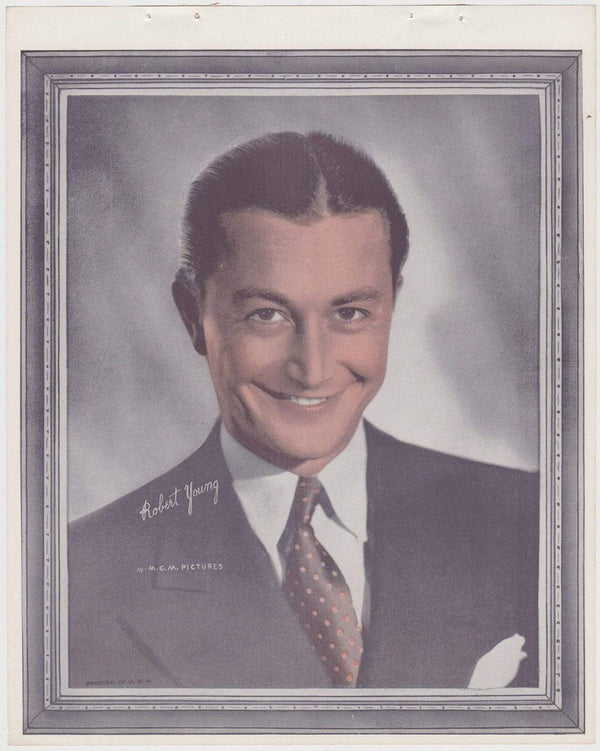 Robert Young 1938 Vintage Color Toned Movie Star Premium Photo
