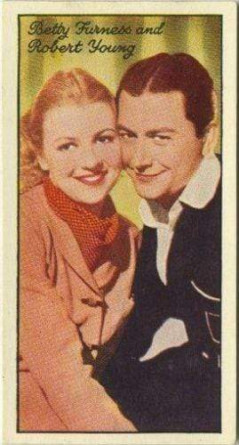 Robert Young + Betty Furness 1935 Carreras Famous Film Stars Tobacco Card #73