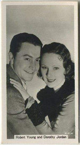 Robert Young + Dorothy Jordan 1937 John Sinclair Film Stars Tobacco Card #39