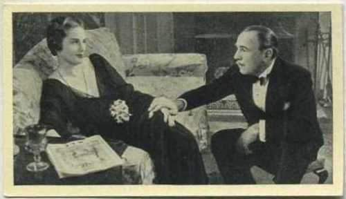Roland Young + Frieda Inescourt 1940 Max Cinema Cavalcade Tobacco Card V1 #246