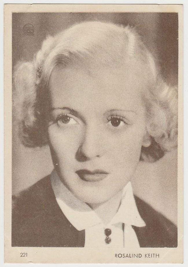 Rosalind Keith 1930s Aguila Large Paper Stock Trading Card #221