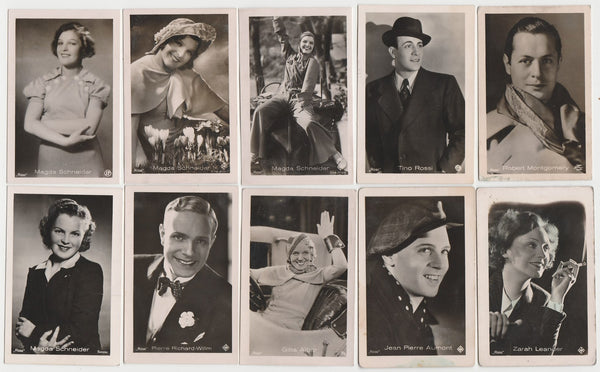 Lot of 20 Different 1930s Vintage ROSS FILM STARS Real Photo TRADING CARDS