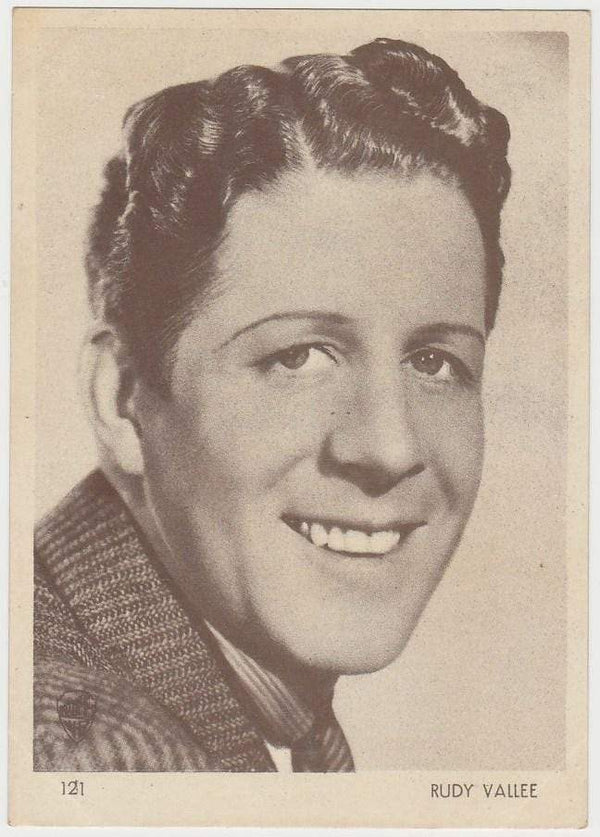 Rudy Vallee 1930s Aguila Large Paper Stock Trading Card #121