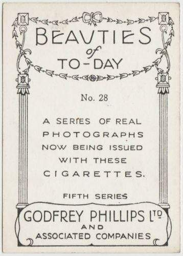 Ruth Channing 1938 Godfrey Phillips Beauties of To-Day XL Tobacco Card S5 #28