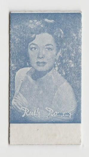 Ruth Roman Early 1950s Film Star Weight Machine Card from Spain
