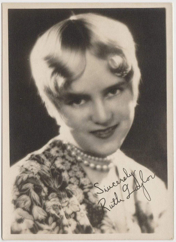 Ruth Taylor Vintage 1920s Era 5x7 Movie Star Fan Photo