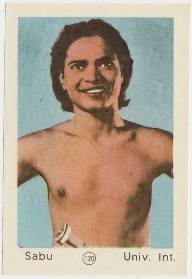 Sabu 1952 Maple Leaf Gum Film Star Paper Stock Trading Card #120
